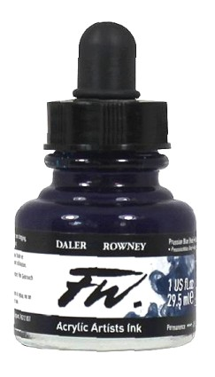 FW Artists Acrylic Ink 30ml, 134 Prussian Blue