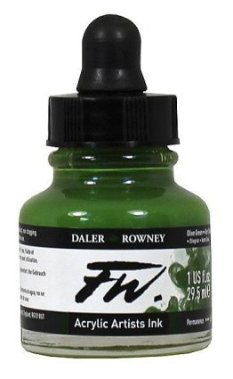 FW Artists Acrylic Ink 30ml, 363 Olive Green