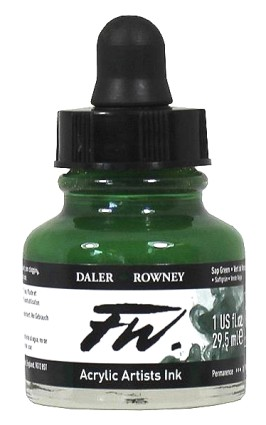 FW Artists Acrylic Ink 30ml, 375 Sap Green