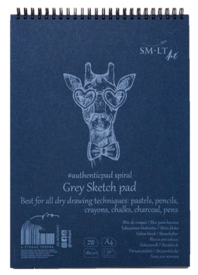 SMLT Sketch pad A4 (30) grey 180g