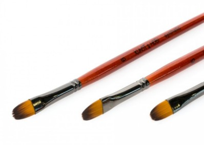 Conda F-2 Synthetic Filbert brushes Short Handle