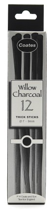 Charcoal Thick 7-9mm 12 pcs