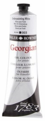 Georgian oil color 225ml, 003 Underpainting White
