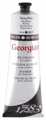 Georgian oil color 225ml, 007 Mixing White