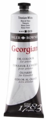 Georgian oil color 225ml, 009 Titanium White