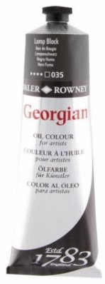 Georgian oil color 225ml, 035 Lamp Black
