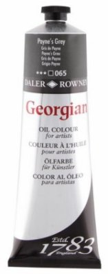 Georgian oil color 225ml, 065 Paynes Grey