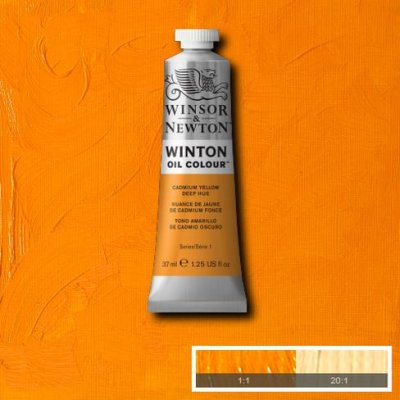 W&N Winton oil color 200ml 115 Cadmium yellow deep