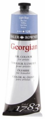 Georgian oil color 225ml, 128 Light Blue