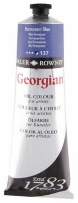 Georgian oil color 225ml, 137 Permanent Blue