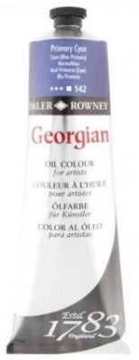 Georgian oil color 225ml, 142 Primary Cyan