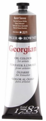 Georgian oil color 225ml, 221 Brunt Sienna