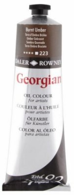 Georgian oil color 225ml, 223 Burnt Umber