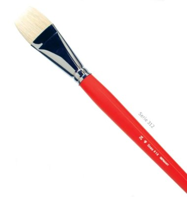 Lineo hog bristle flat brushes Long Handle 312 Nro 2