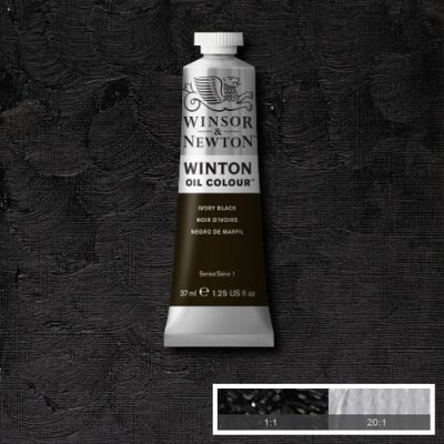 W&N Winton oil color 200ml 331  Ivory black