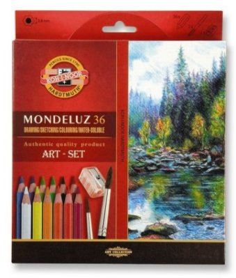 Mondeluz Art-set aquarell 24 pcs cardboard box