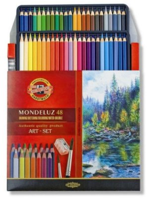 Mondeluz Art-set aquarell 48 pcs cardboard box