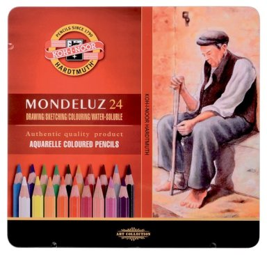 Mondeluz aquarell coloured pencil 24 pcs