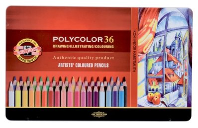Polycolor coloured pencils 36 pcs