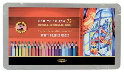 Polycolor coloured pencils 72 pcs