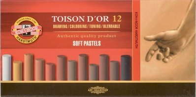 Toison Dor Soft pastel 12 pcs Brown