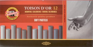 Toison Dor Soft pastel 12 pcs Grey