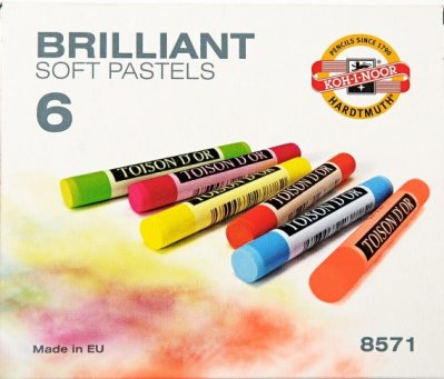 Brilliant soft pastels 6 pcs