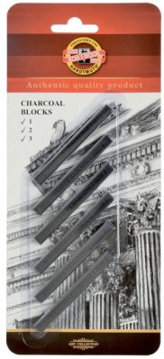 Artificial charcoals carre 6 pcs