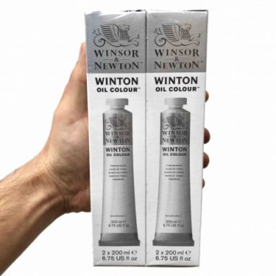 W&N Winton oil color 2x200ml 644 Titanium white