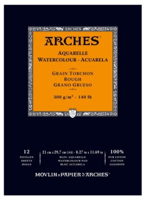 Arches 300g A4 (12) 100% rouch