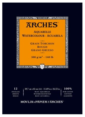 Arches 300g A3 (12) 100% cotton rouch