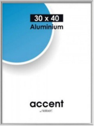 Accent frame 70x100 cm silver