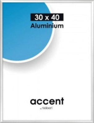 Accent frame 70x100 cm silver*