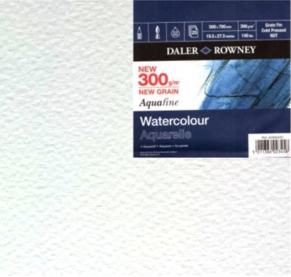 Watercolour paper Aquafine 50x70cm 300g 25 pcs
