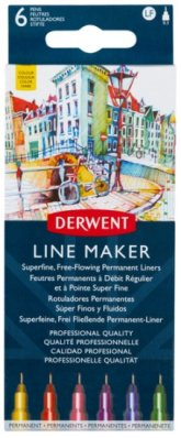 Derwent Line Maker 6 pcs Colour assortment