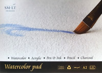 SMLT Watercolor pad A2 (10) 40% cotton 260g