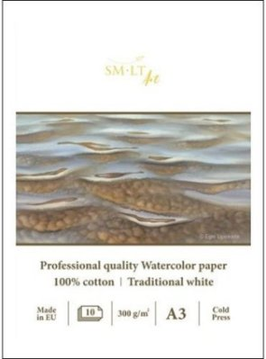 Watercolour pad SMLT Professional A3 100% cotton