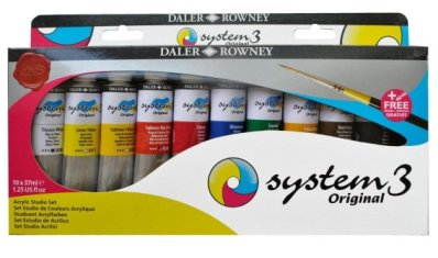 System3 Studio set 10x37ml + brush