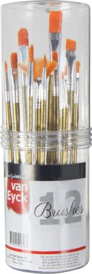VanEyck Brush set 12 pcs acrylic