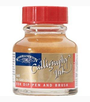 W&N Calligraphy ink Gold 30ml