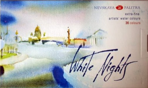 White Nights Watercolour set 36 pan plastic box