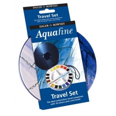 Aquafine Travel Set 18 Half Pan metal box