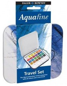 Aquafine Travel Set 24 Half Pan metal box