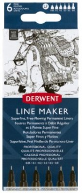 Derwent Line Maker Black 6 pcs