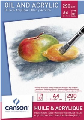 Canson Oil ang Acrylic pad A4 (10)