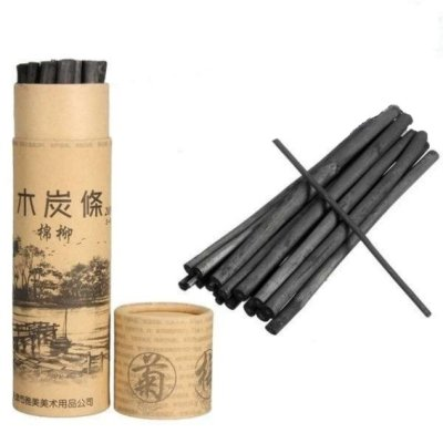 Charcoal  Thick 4-5 mm 20 pcs the tube