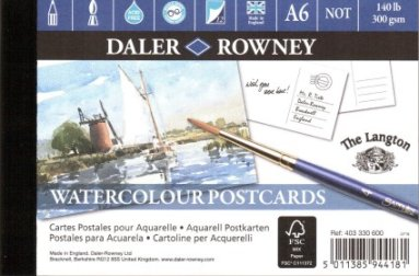 Watercolour pad The Langton postcard pad