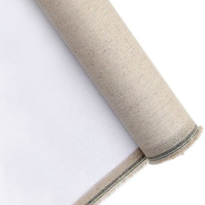 Priming linen canvas 380g 210cm, 10m roll