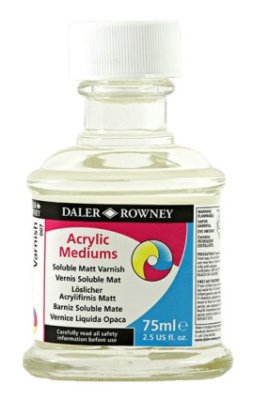 Soluble varnish Matt 75 ml